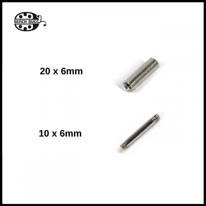 Gewindhülsen -invisible ring- 6mm