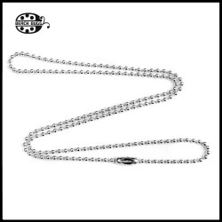 stainless steel 1mm ball chain necklace