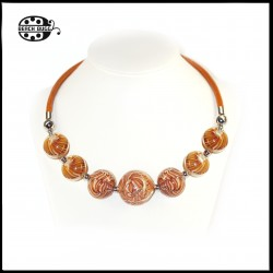 Gabi leather necklace - classic