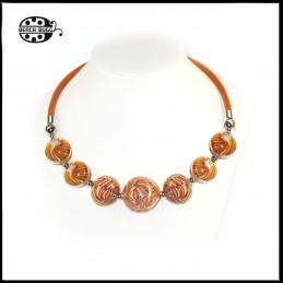 Gabi leather necklace - normal