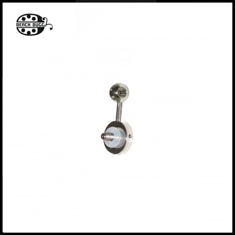 single pendant for cabochon - ball with 3 mm hole