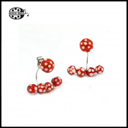 2 pairs 10 beads earring studs