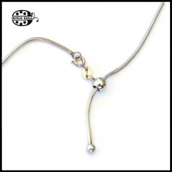1.5mm fairy - adjustable stainless steel necklace