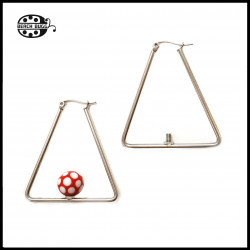 M2.5 triangle earring