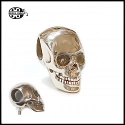 hand polished skull with M2.5 thread