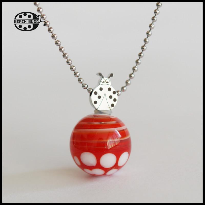 M2.5 ladybug pendant with necklace