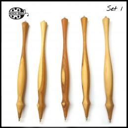 5 Unikat Kugelschreiber aus Holz mit M2.5 Gewinde