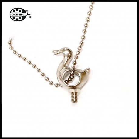 M2.5 duck note pendant with necklace