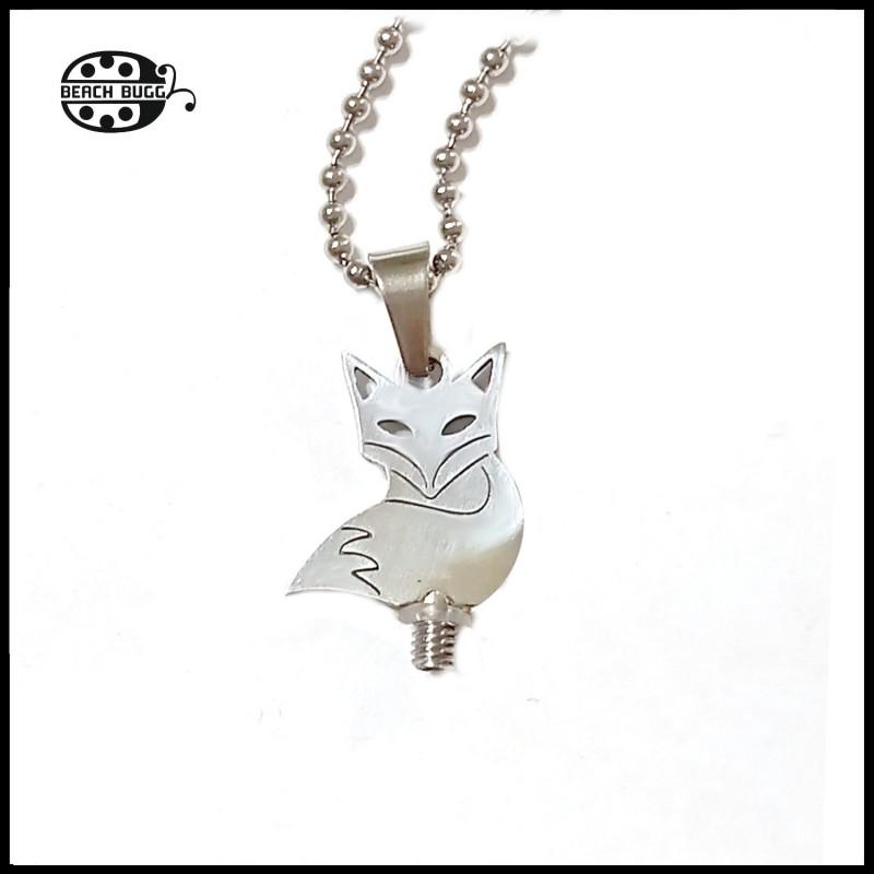 fox pendant stainless steel