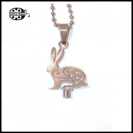 M2.5 flower bunny pendant with necklace