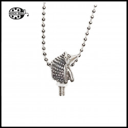 M2.5 hedgehog pendant with necklace