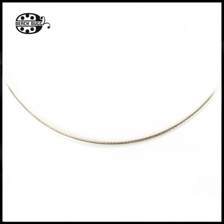 stainless steel wire necklace - 1mm