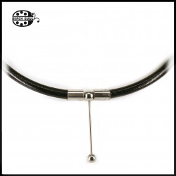 Luca leather necklace - 5mm - black