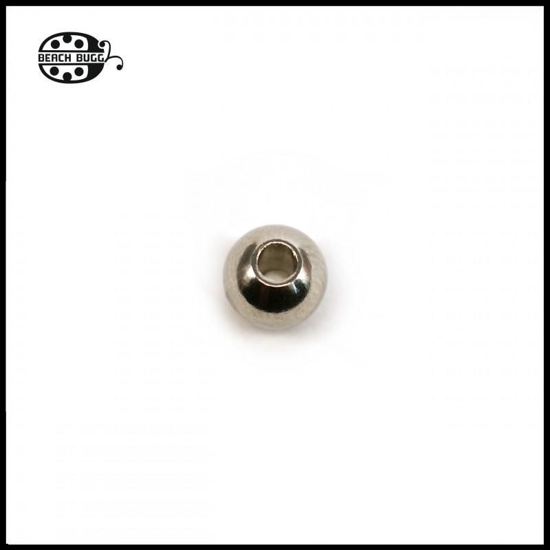 2x Kugel-Abschlussteile mit 2mm Loch