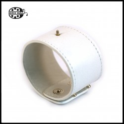 white chunk leather bracelet