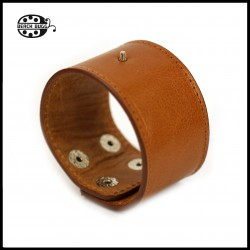 1 x leather interchangeable bracelet - wide - light brown