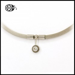 Luca stainless steel mesh necklace - cabochon