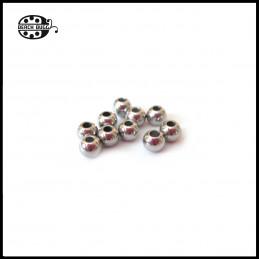 10 Stück 4mm Edelstahl Perlen