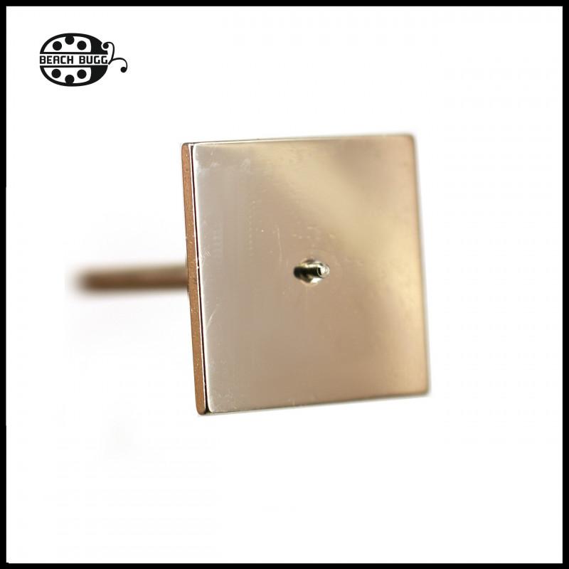 M2.5 cabochon square plate