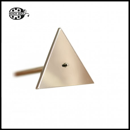 Triangle cabochon stainless steel mandrel