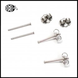 50 pairs stainless steel earring studs