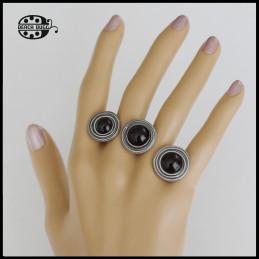 Triple Invisible Ring mit Gewindehülsen