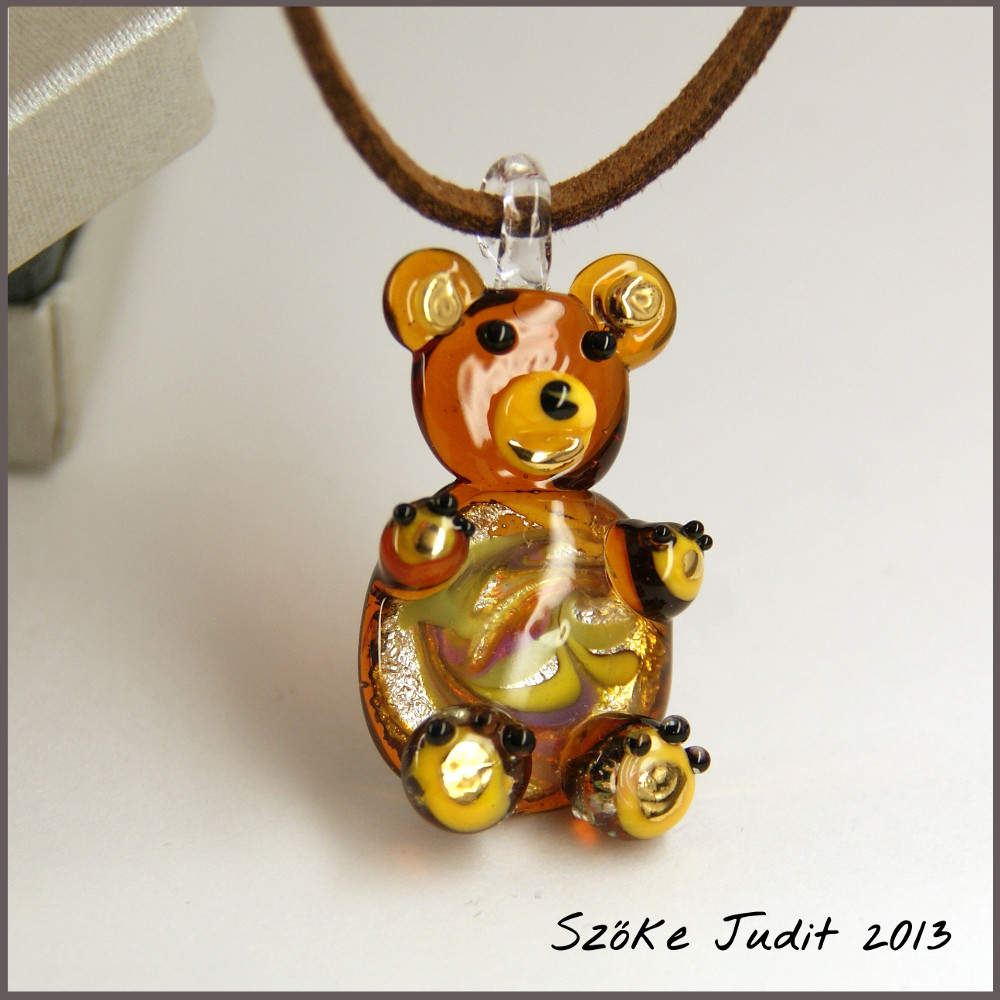 Bear Glass pendant