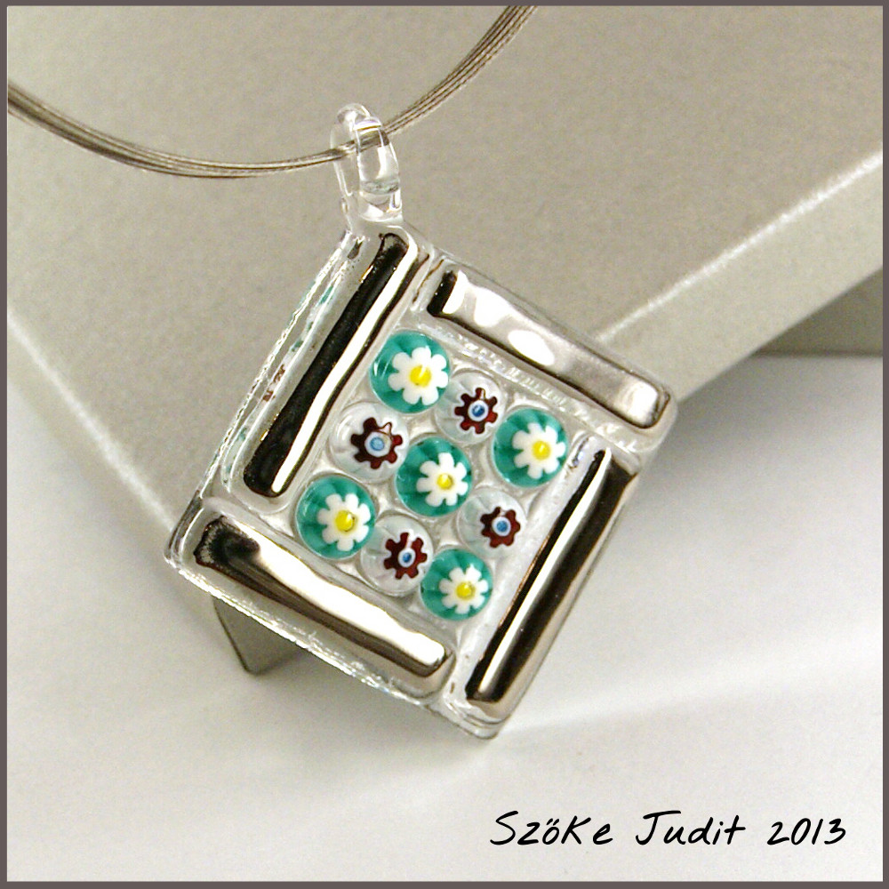 soft glass lampwork pendant