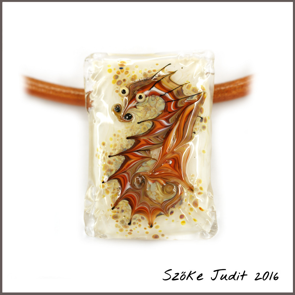 dragon lampwork bead